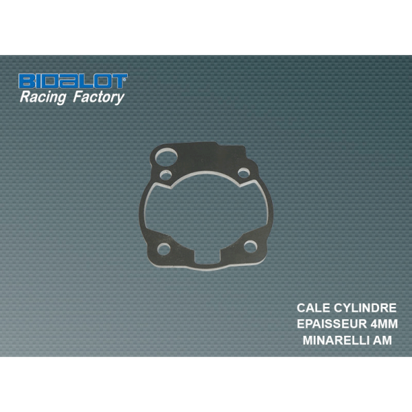 Cale de cylindre 4mm Bidalot Racing Factory Minarelli AM6
