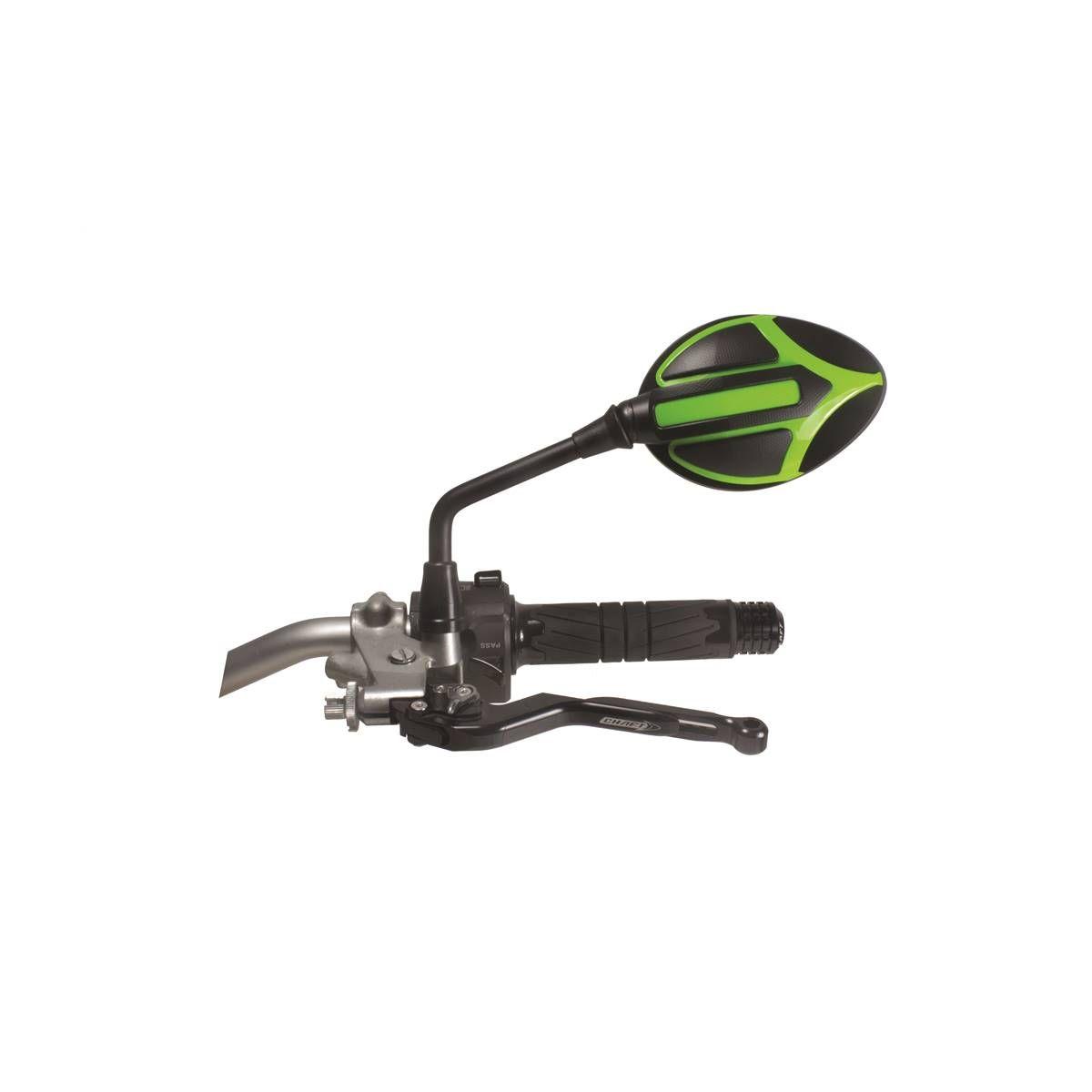 Rétroviseur réversible homologué Chaft Candy noir mat/vert
