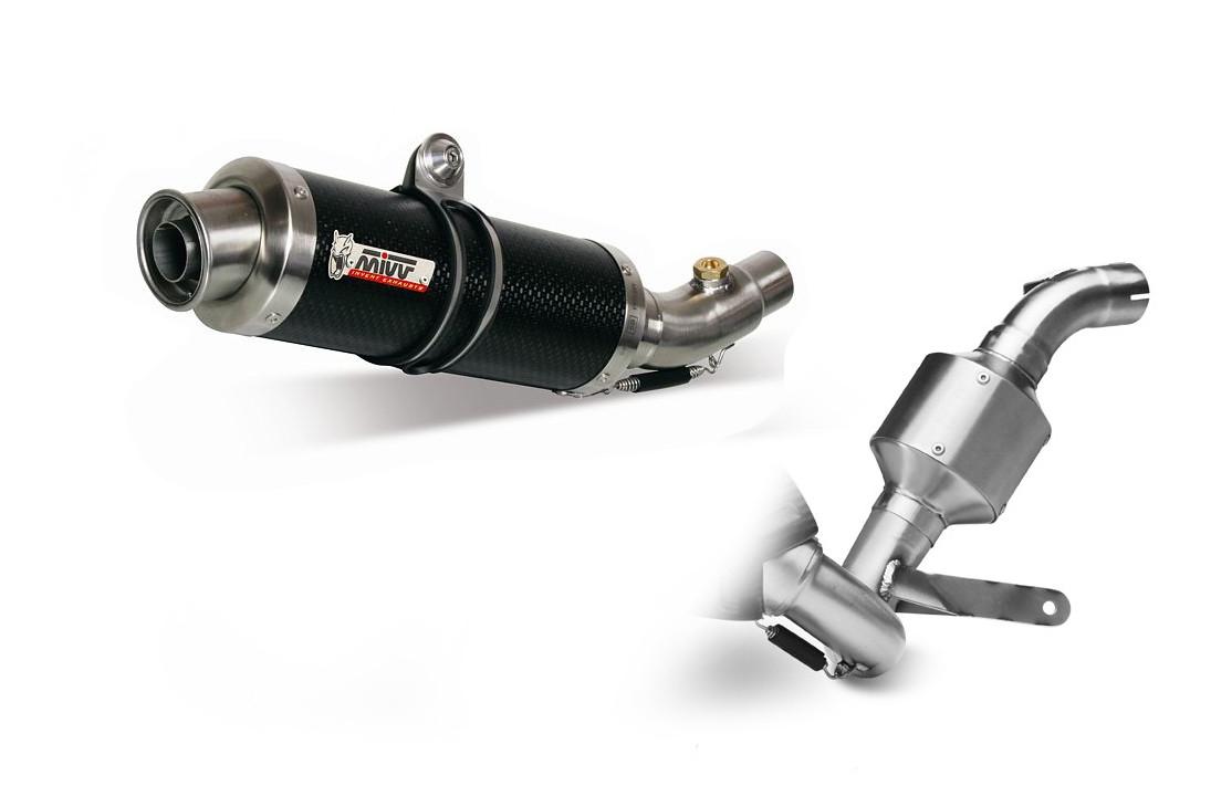 Ligne complète 1x1 MIVV GP carbone KTM 125 / 200 Duke 11-