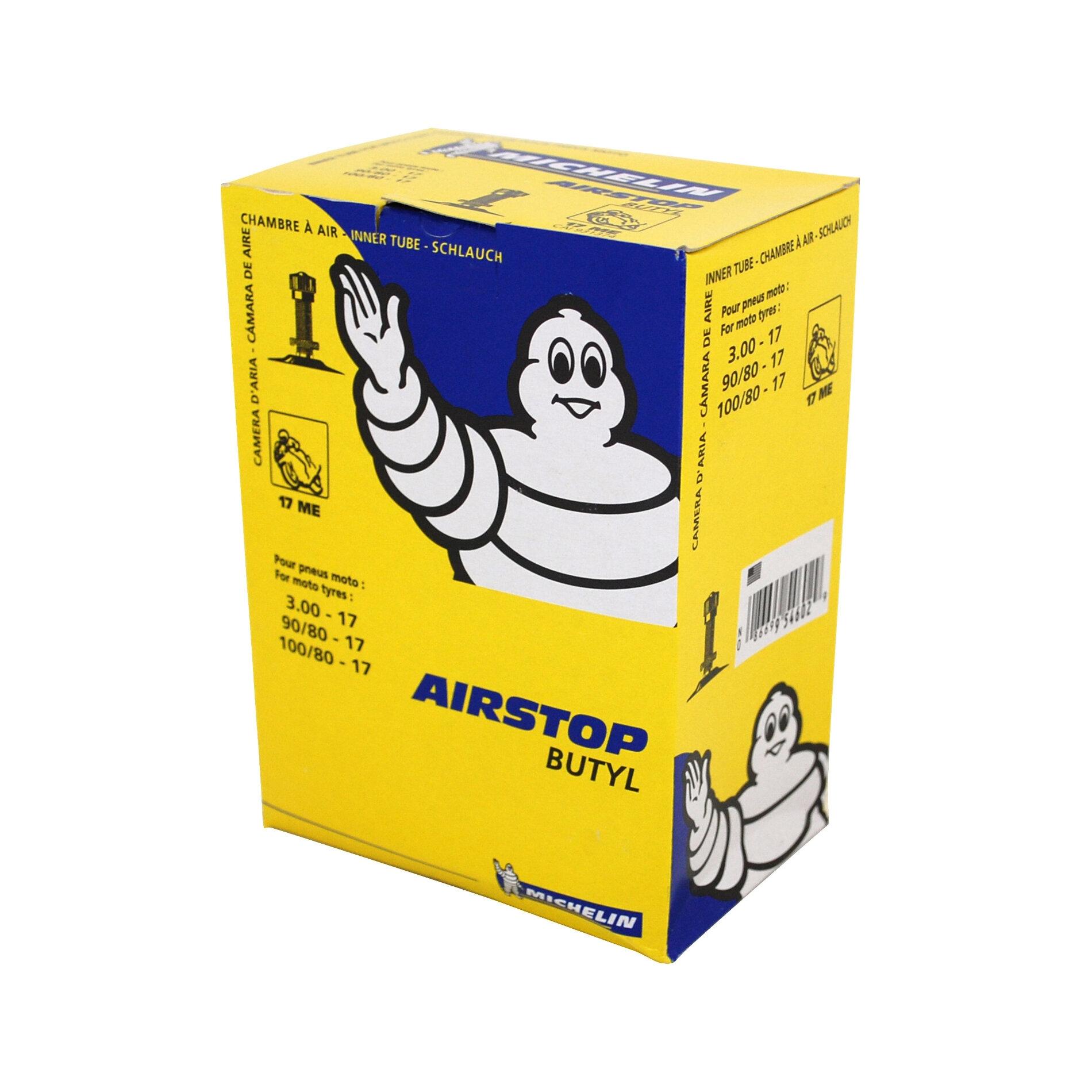 Chambre à air Michelin Street 90/90-17 valve droite TR4