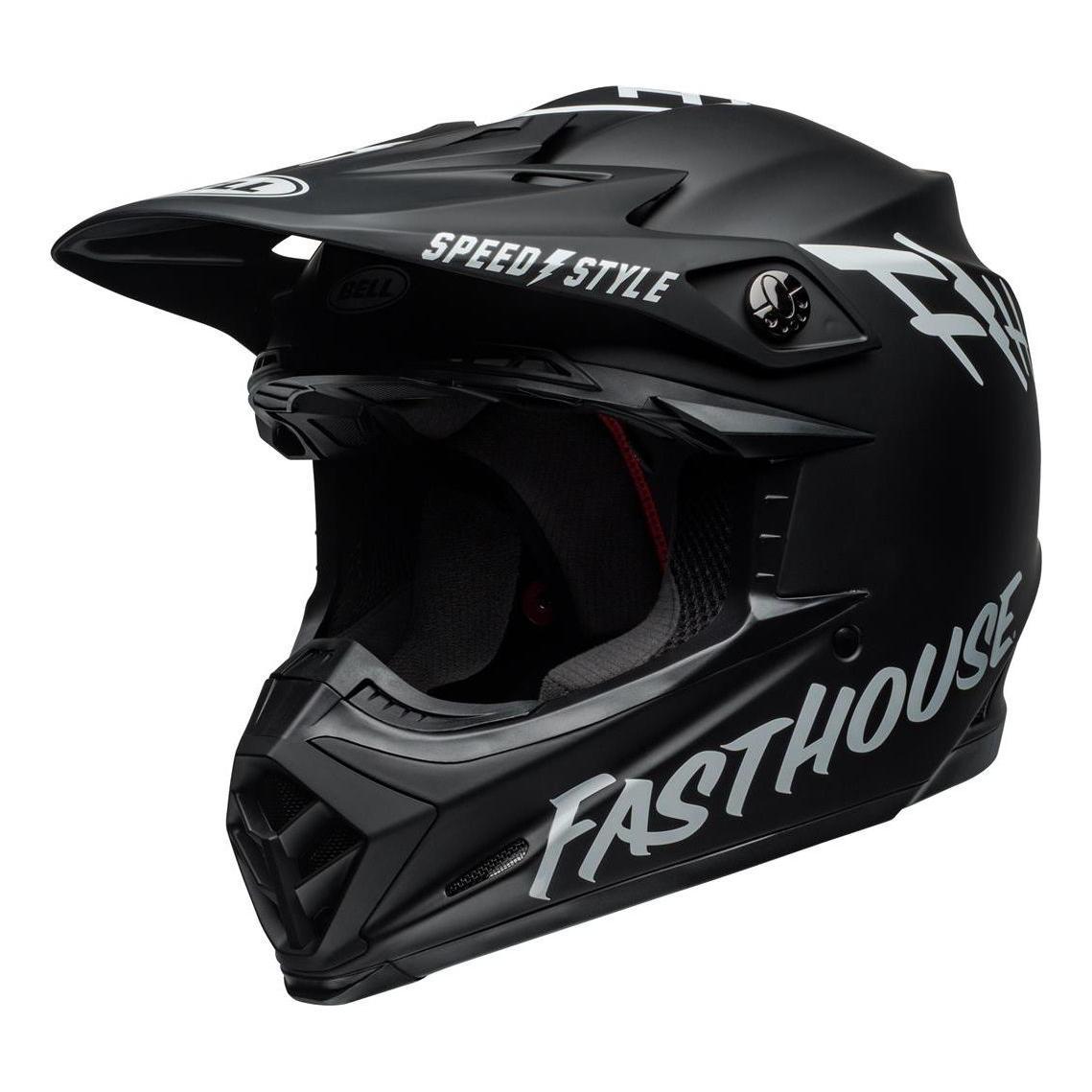Casque cross Bell Moto-9 Mips Fasthouse blanc/noir - XS