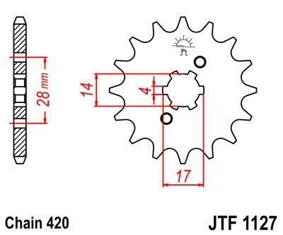 Pignon JT Sprockets Acier pas 420 15 dents - Pour Derbi Senda SM X-tre