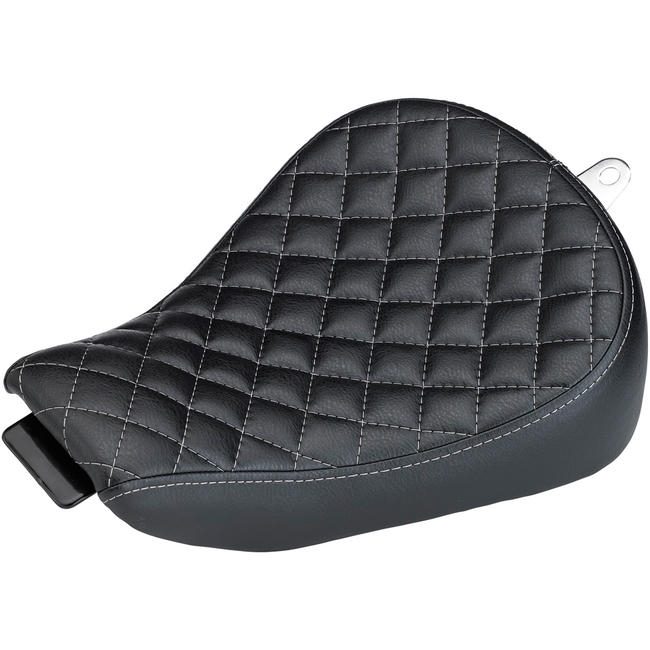 Selle Biltwell Sporty-8 Harley Davidson Sportster 10-18 noire coutures