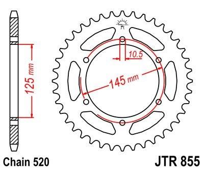 Couronne JT Sprockets Acier pas 520 45 dents - Pour Yamaha XT 660 R 04