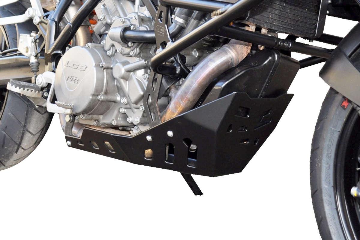 Sabot moteur Bihr aluminium noir pour KTM 990 SMT 11-14