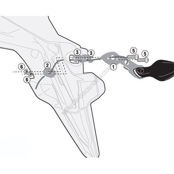 Kit déport pour clignotants Kappa Honda CB 500X 13-18