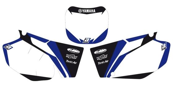 Fonds de plaques Blackbird Dream Graphic 2 Yamaha 250 YZ-F 01-05 blanc