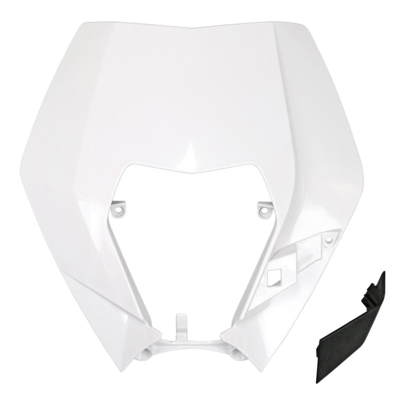 Plastique plaque phare UFO KTM 250 EXC-F 09-13 blanc (blanc KTM)