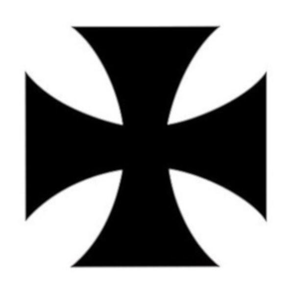 Autocollant Croix de Malte 150MM - tribal