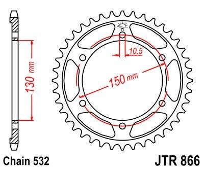 Couronne JT Sprockets Acier pas 532 38 dents - Pour Yamaha XJR 1200 95