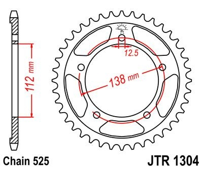 Couronne JT Sprockets Acier pas 525 44 dents - Pour Honda CBR 600 F 99