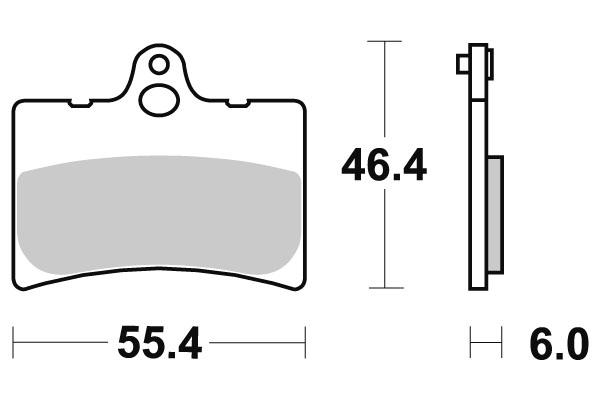 Plaquettes de frein SBS céramique 126HF