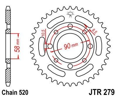 Couronne JT Sprockets Acier pas 520 31 dents - Pour Honda CM250 Rebel