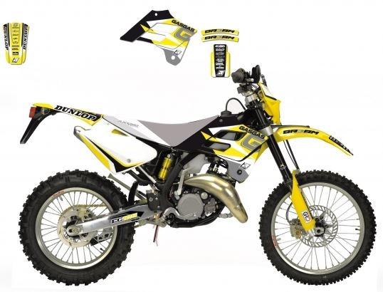 Kit déco Blackbird Dream Graphic 3 Gas Gas 125 EC 02-06 jaune