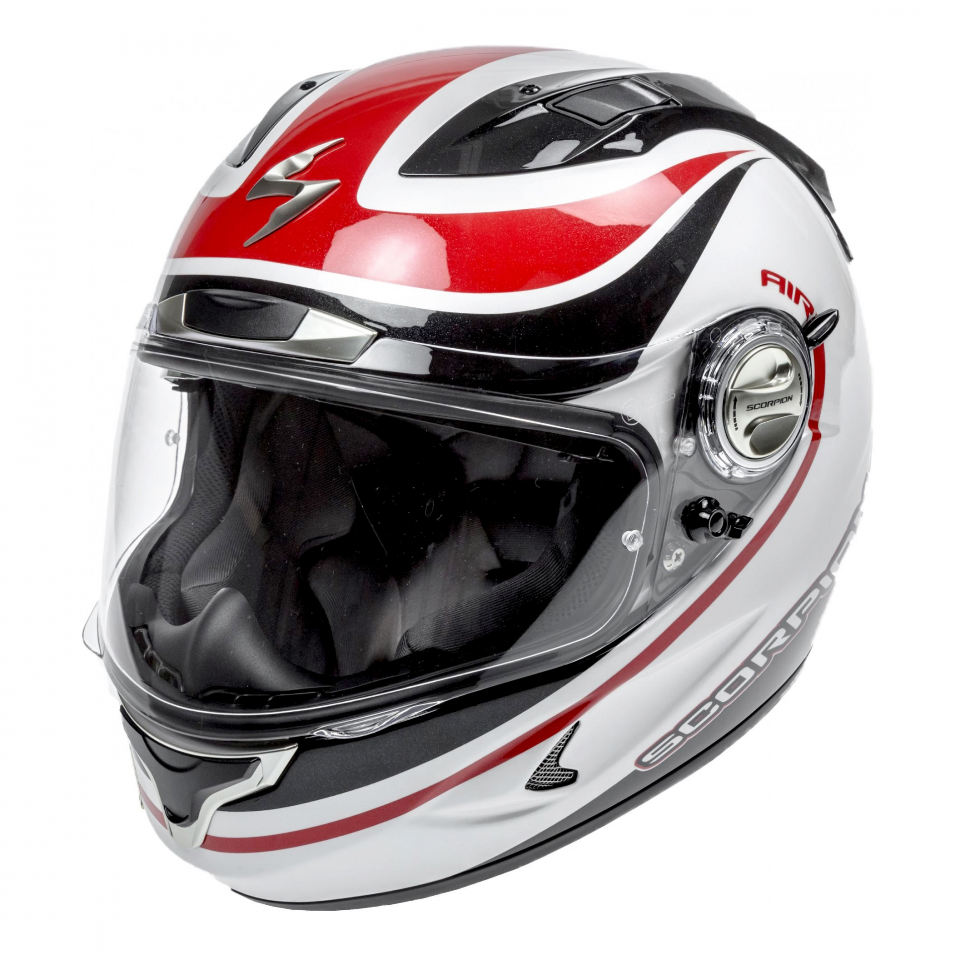 Casque intégral Scorpion EXO-1000 AIR Patriot Noir Blanc Rouge - XL