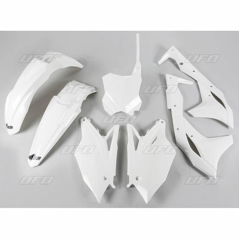 Kit plastique UFO Kawasaki 250 KX-F 2017 blanc