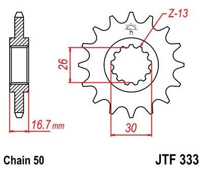 Pignon JT Sprockets Acier pas 530 15 dents - Pour Honda CB 1000 R 08-1