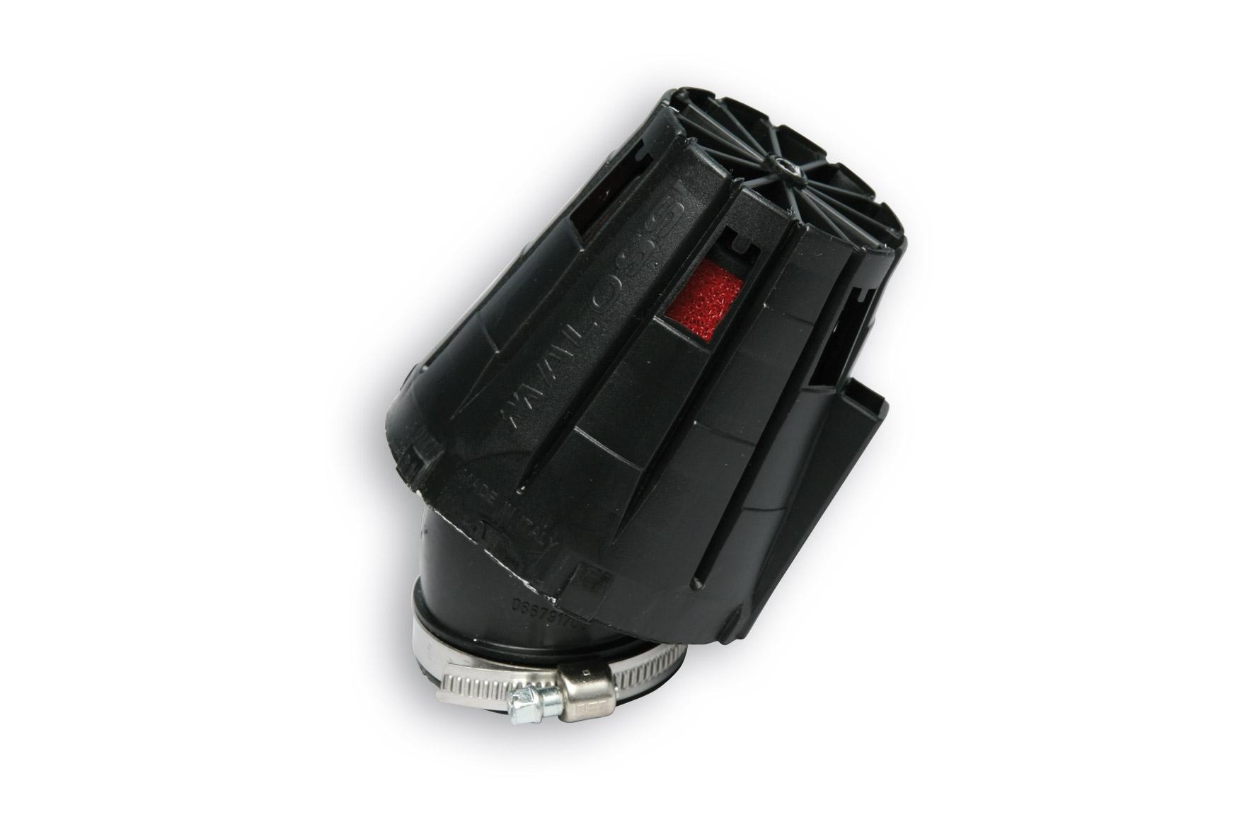 Filtre à air Malossi Red Filter E5 D.52 incliné 30 couvercle noir