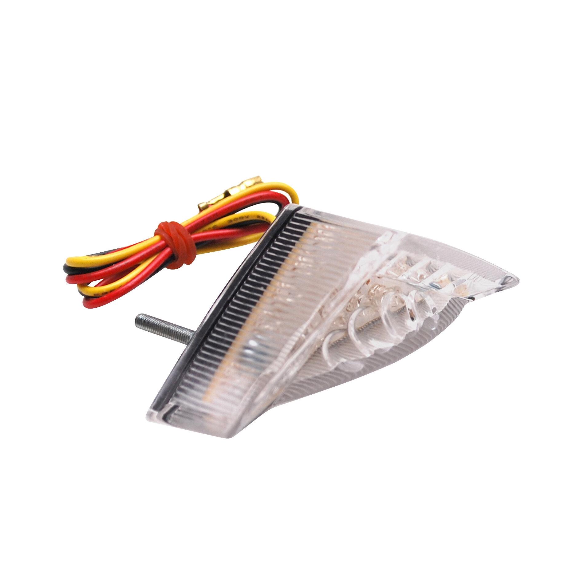 Feu arrière universel Replay à leds roof blanc avec éclairage de plaqu