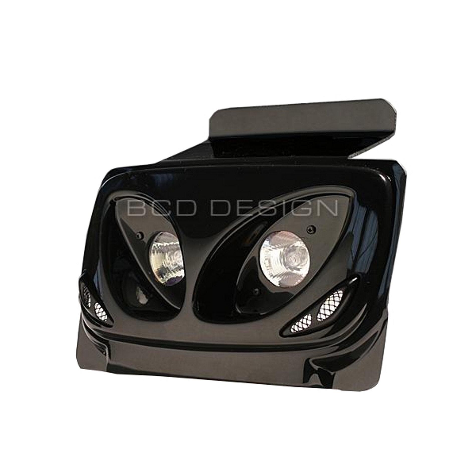 Double optique BCD Twin black édition MBK Booster 04-