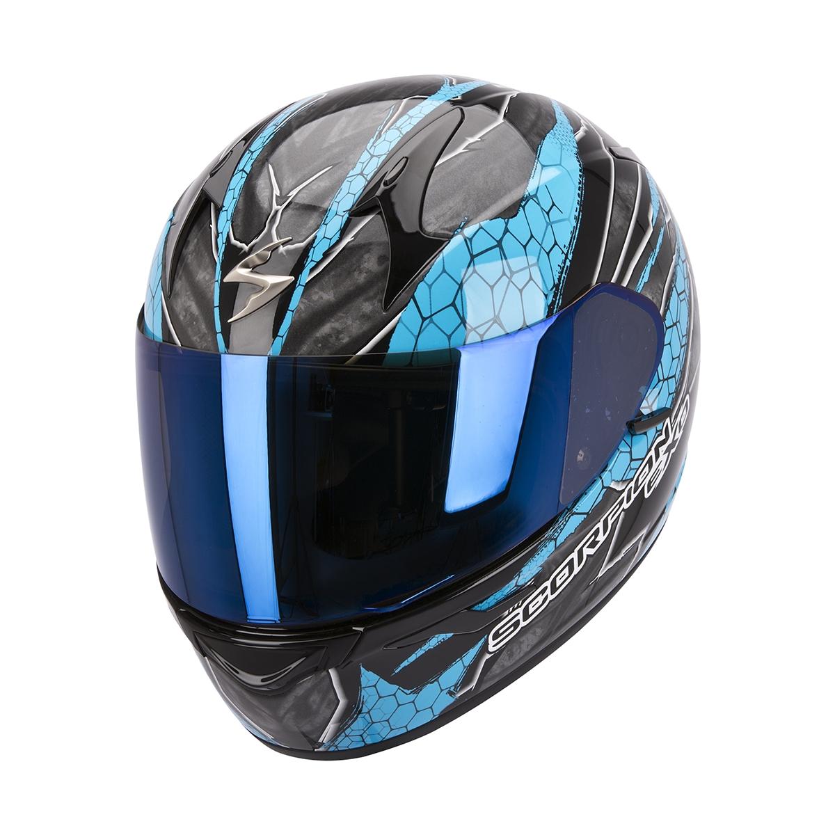Casque intégral Scorpion EXO-410 AIR Rad Noir/Bleu - XL