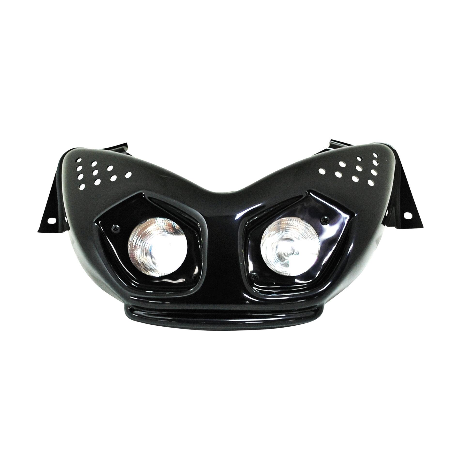Double optique halogène BCD MBK Nitro / Yamaha Aerox - Blanc