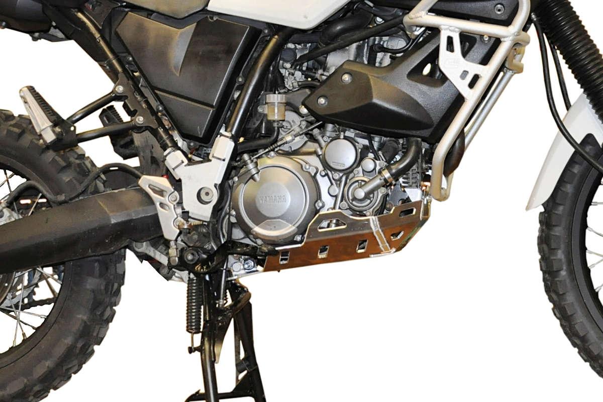 Sabot moteur Bihr aluminium gris pour Yamaha XT 660 Z Ténéré 08-12