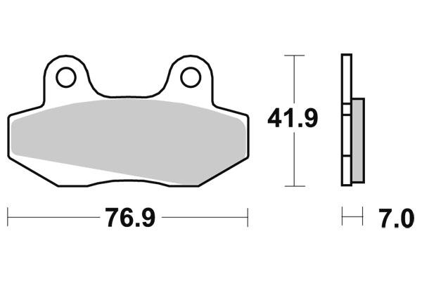 Plaquettes de frein SBS céramique 103HF