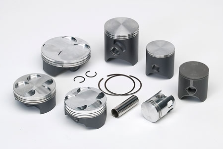 Piston Vertex 2 segments Keystone pour KTM 125 SX/EXC 01-14/Husaberg T