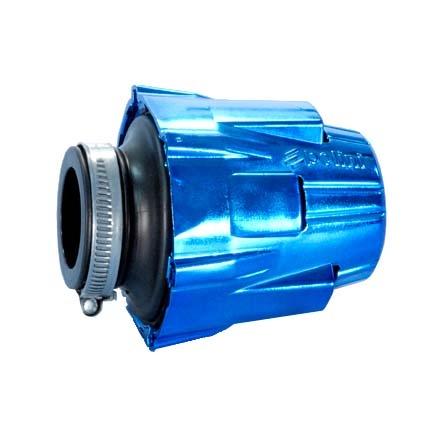 Filtre à air Polini Air Box bleu anodisé droit - D.32