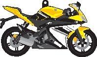 Porte clés Yamaha YZF-R 125