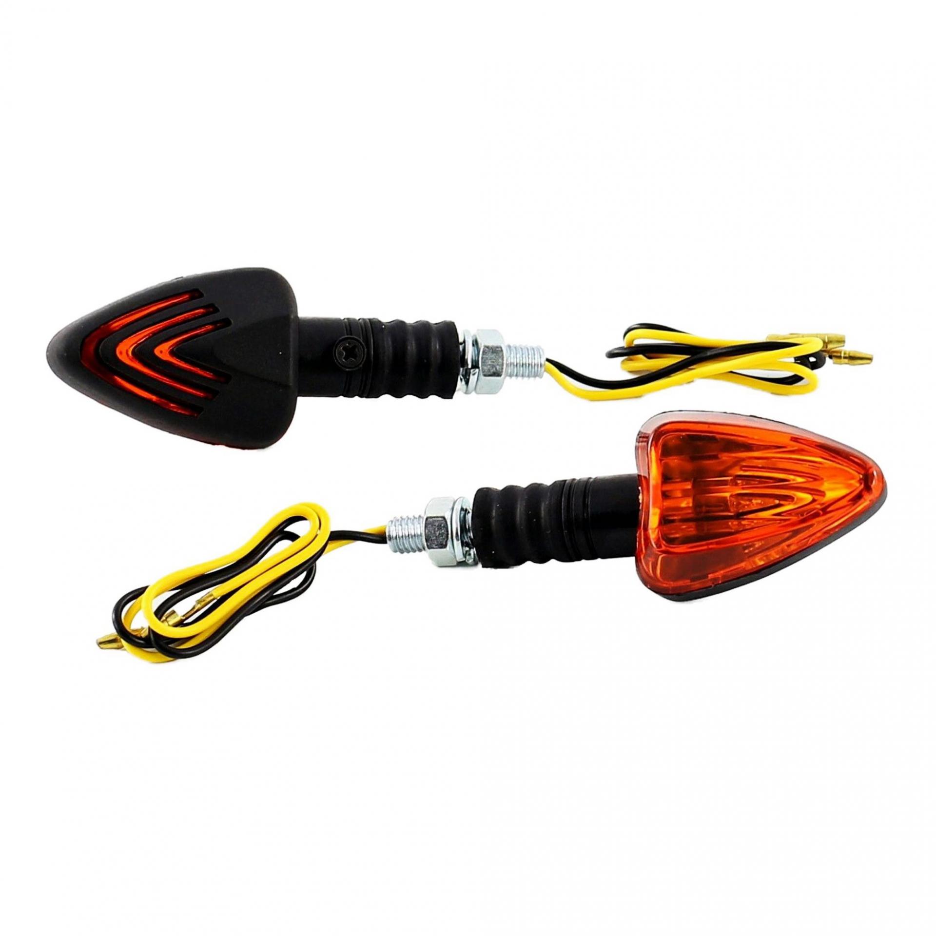 Clignotants Replay mini triangle orange/noir à ampoule