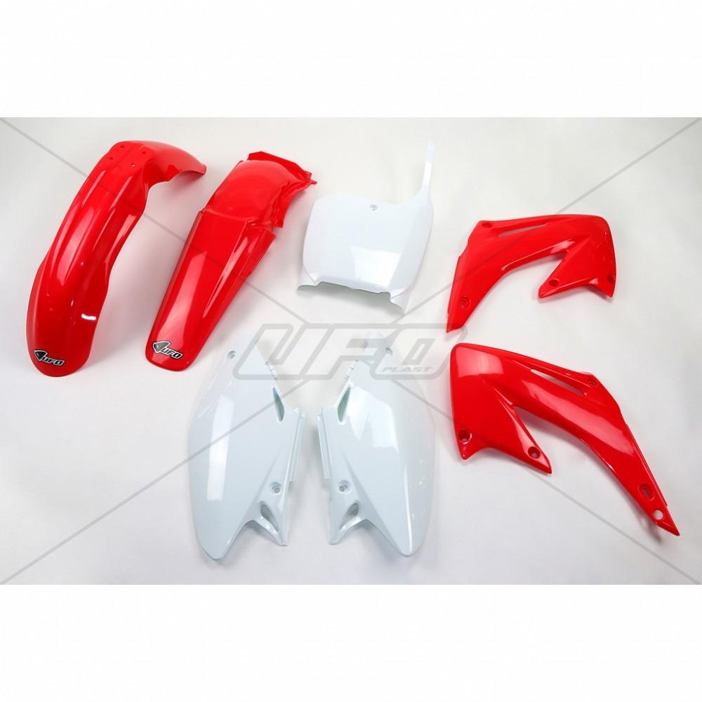Kit plastique UFO Honda CR 125/250R 02-03 rouge/blanc (couleur origine