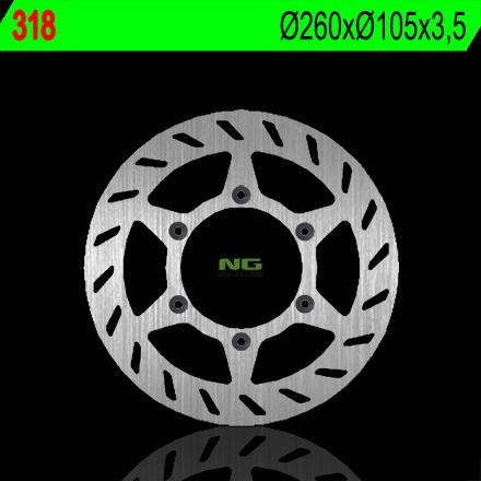 Disque de frein NG Brake Disc D.260 avant gauche RIEJU RS1 50 de 1999