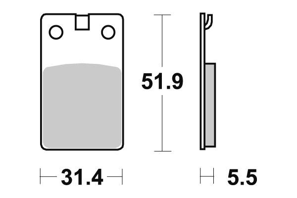 Plaquettes de frein SBS céramique 132HF