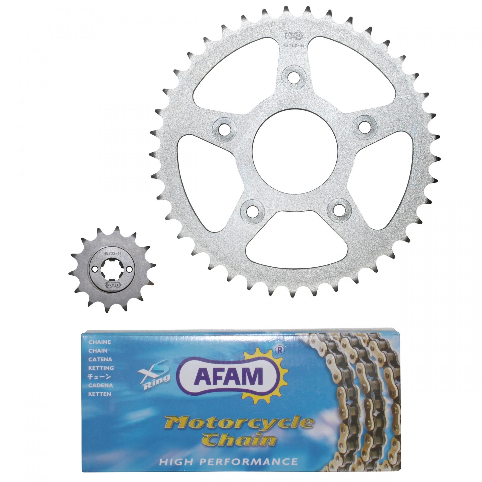 Kit chaîne Afam 14x41 Cagiva 125 Mito 92-99