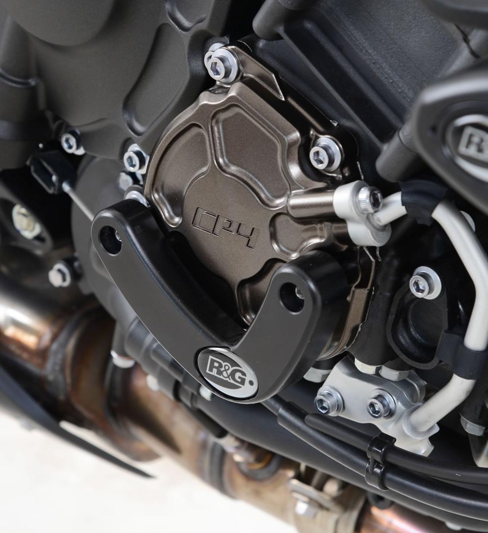 Slider moteur droit R&G Racing noir Yamaha YZF-R1 15-18