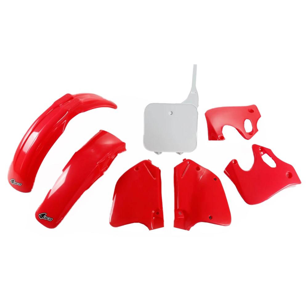 Kit plastique UFO Honda CR 125R 93-94 rouge/blanc (couleur origine)