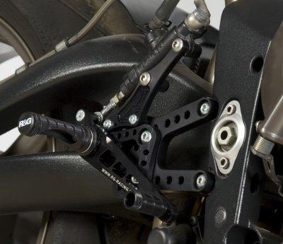 Commandes reculées R&G Racing noir Triumph Daytona 675 05-12