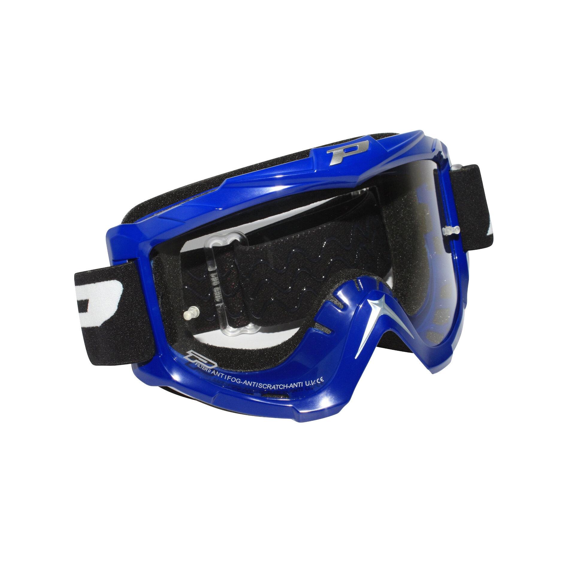 Masque cross moto Progrip 3301 bleu