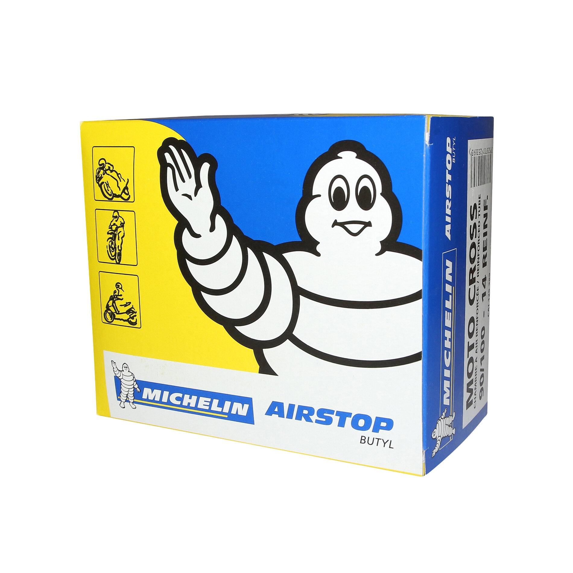 Chambre à air Michelin offroad renforcée 90/100-14 valve droite