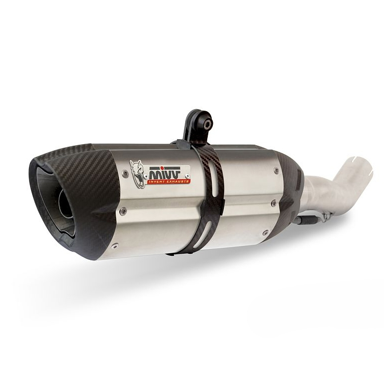 Ligne complète inox homologuée MIVV Suono inox casquette carbone KTM R
