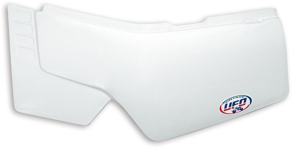 Plaques numéro latérales UFO Type Yamaha 600 XT 84-86 blanc