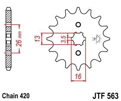Pignon JT Sprockets Acier pas 420 11 dents - Pour Yamaha DT 50 MX 81-8