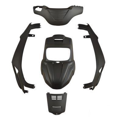 Kit carénage MBK Booster / Yamaha Bw's 04- noir mat
