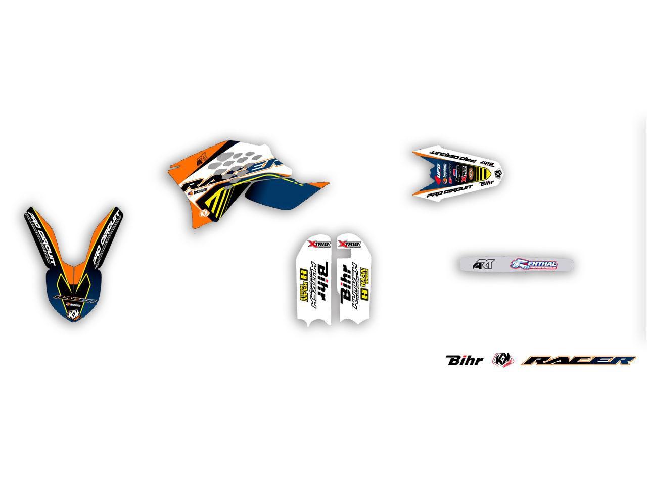 Kit déco Kutvek Racer KTM 65 SX 16-17 orange