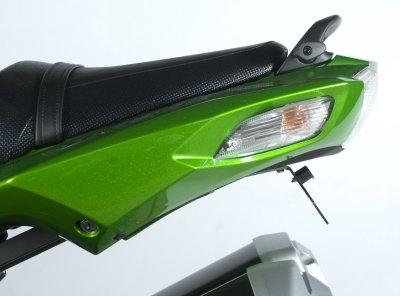 Support de plaque dimmatriculation R&G Racing noir Kawasaki ZZR 1400