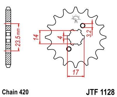 Pignon JT Sprockets Acier pas 420 11 dents - Pour Aprilia RS 50 06-13