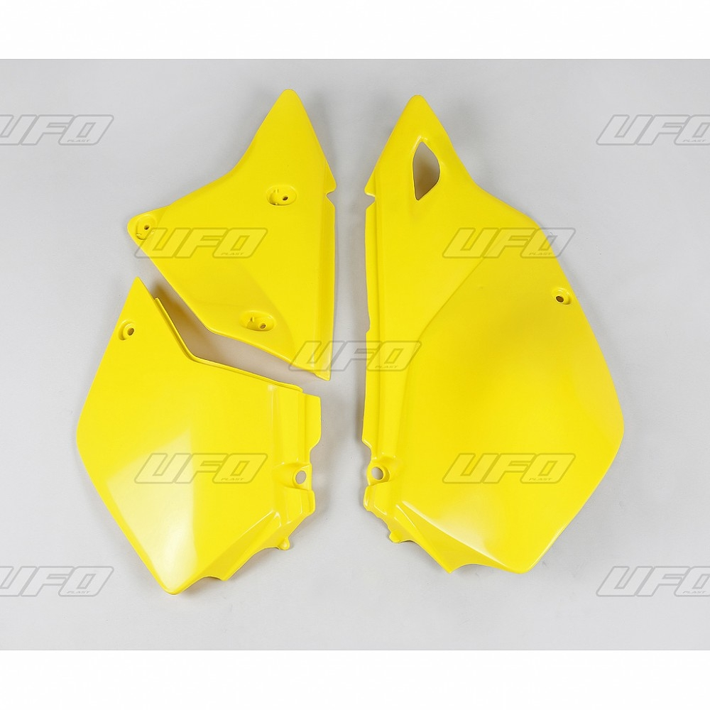 Plaque numéro latérale UFO Suzuki DR-Z 400E 00-05 jaune (jaune RM 01-1