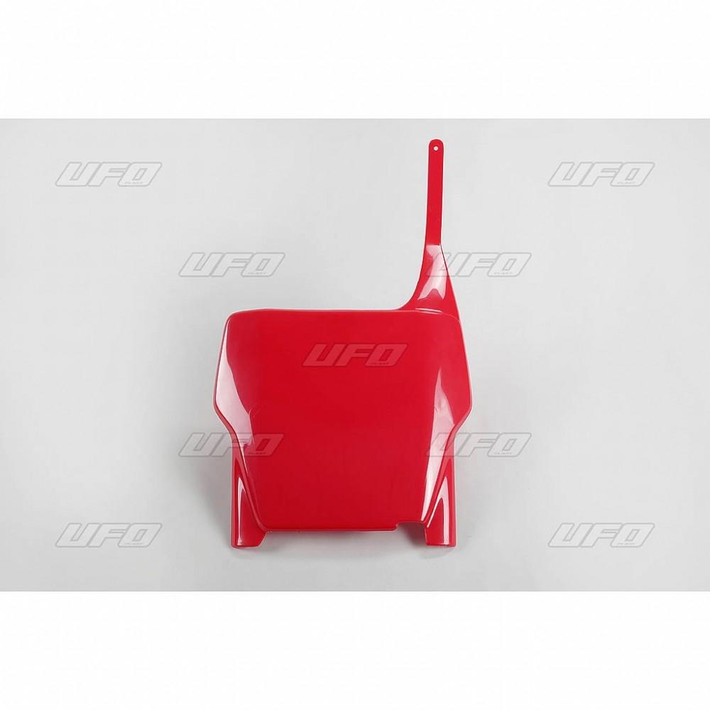 Plaque numéro frontale UFO Honda CR 250R 04-07 rouge (rouge CR/CRF 00-